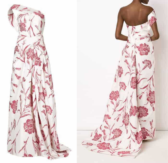 Carolina Herrera Asymmetric Wrap Gown
