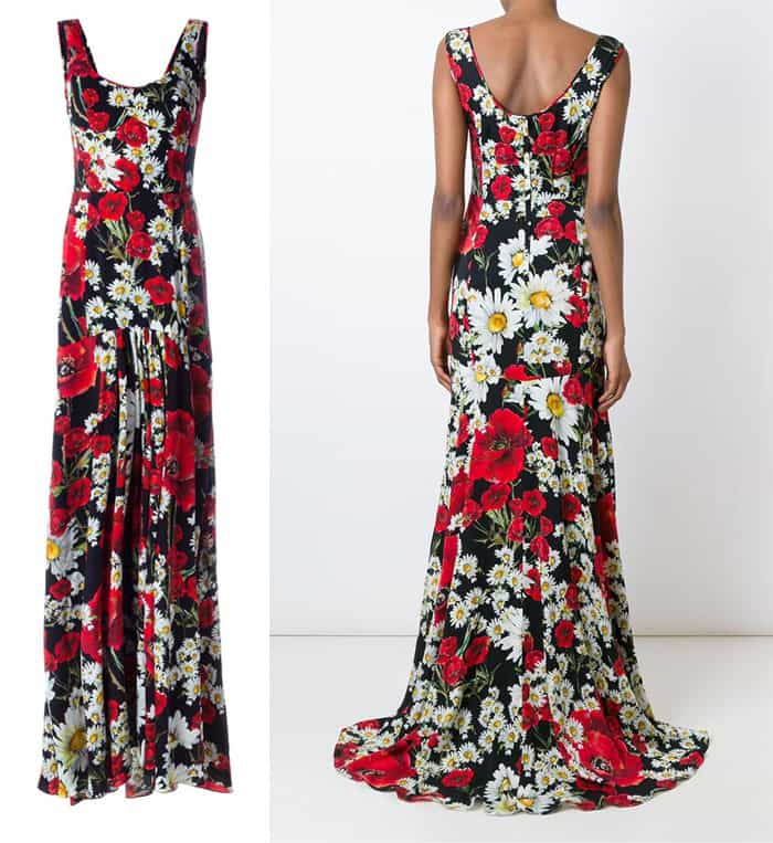 Dolce & Gabbana Daisy and Poppy Print Gown