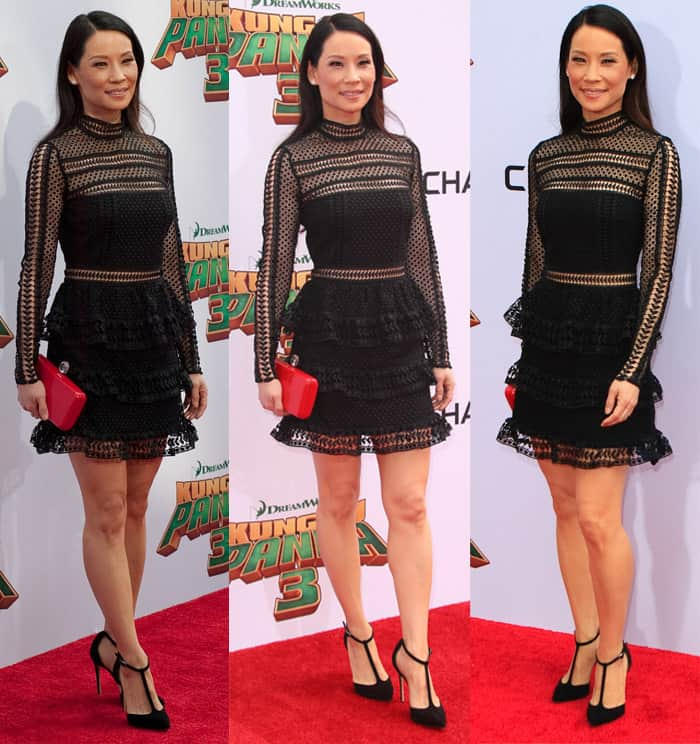 9a9b569c1239 Lucy Liu at the world premiere of 'Kung Fu Panda 3' in Los Angeles on  January 16, ...