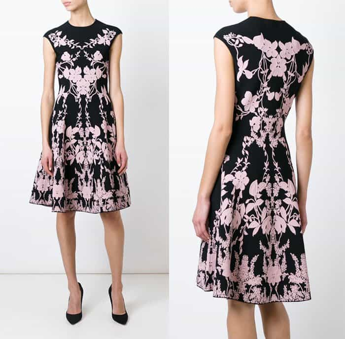 Alexander McQueen Floral Knit Dress