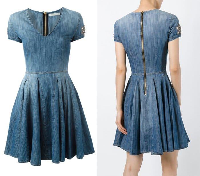Amen Flared Denim Dress