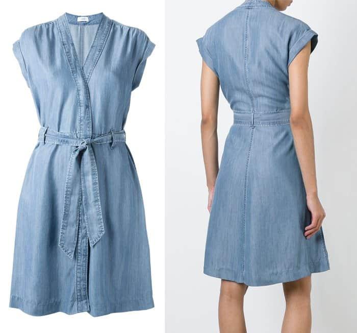 Closed Belted Denim Dress