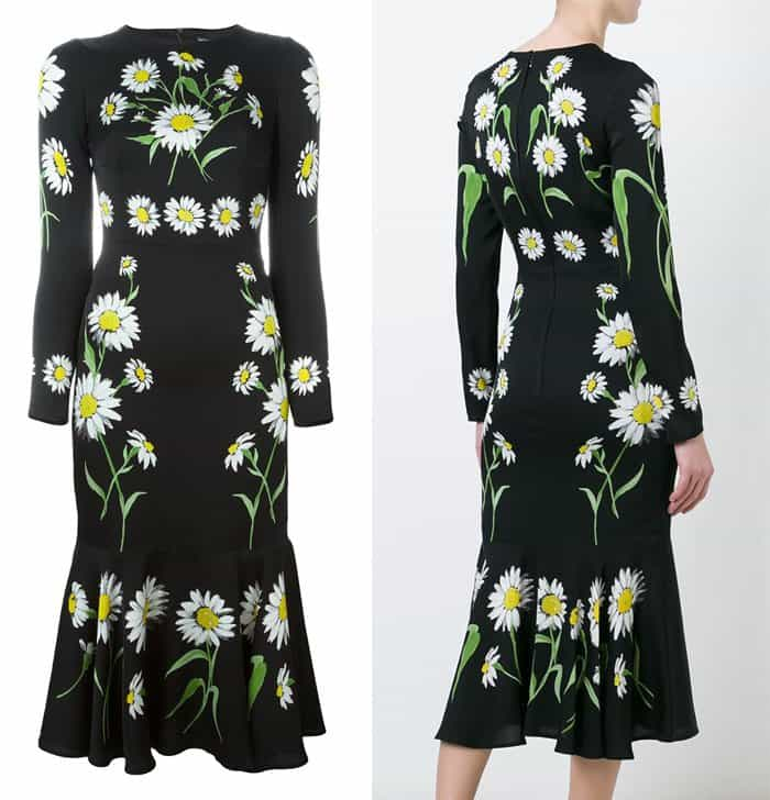 Dolce & Gabbana Daisy Print Dress
