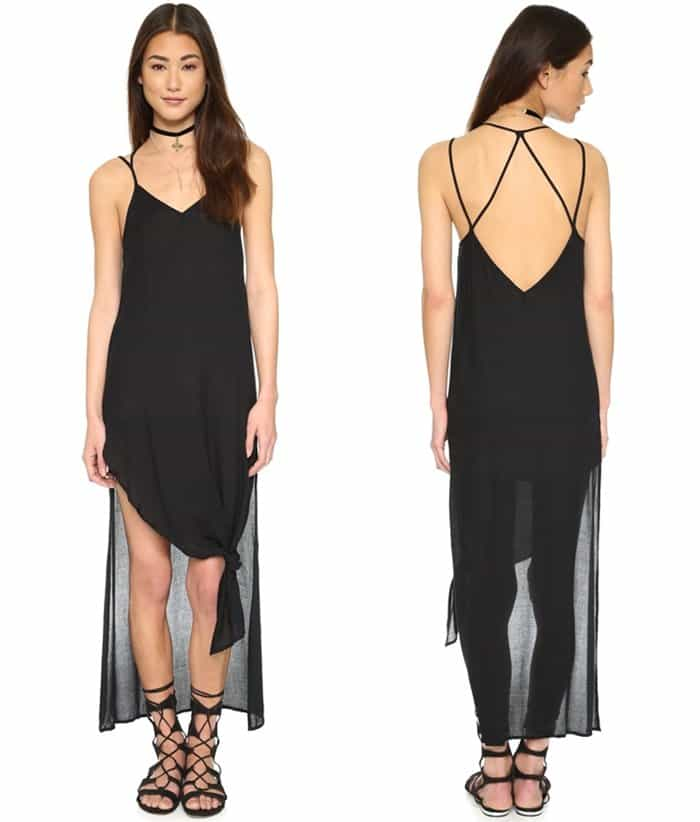 Free People Tie Up Knotted Slip3