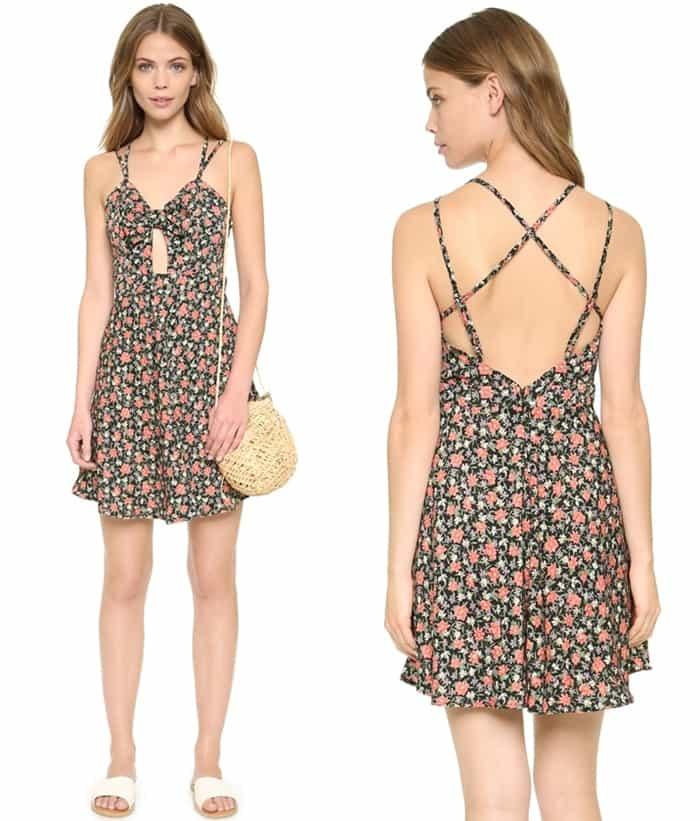 Glamorous Vintage Floral Mini Dress3