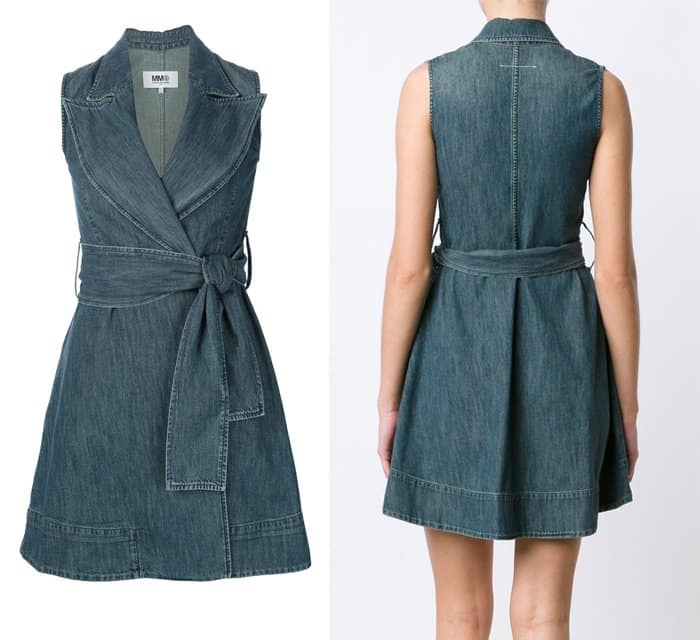 MM6 Maison Margiela Wrap Denim Dress