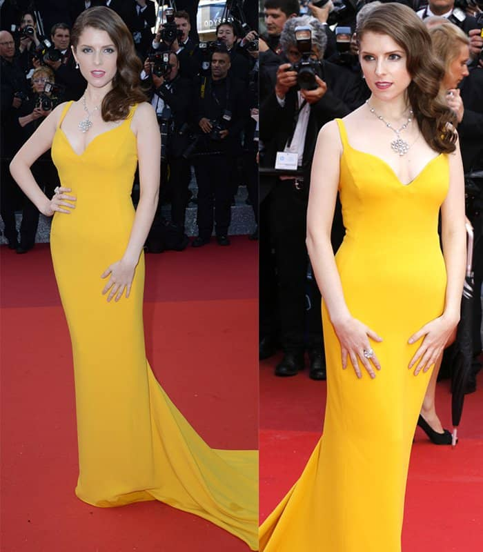 Anna Kendrick Stella McCartney Canary Yellow Gown2