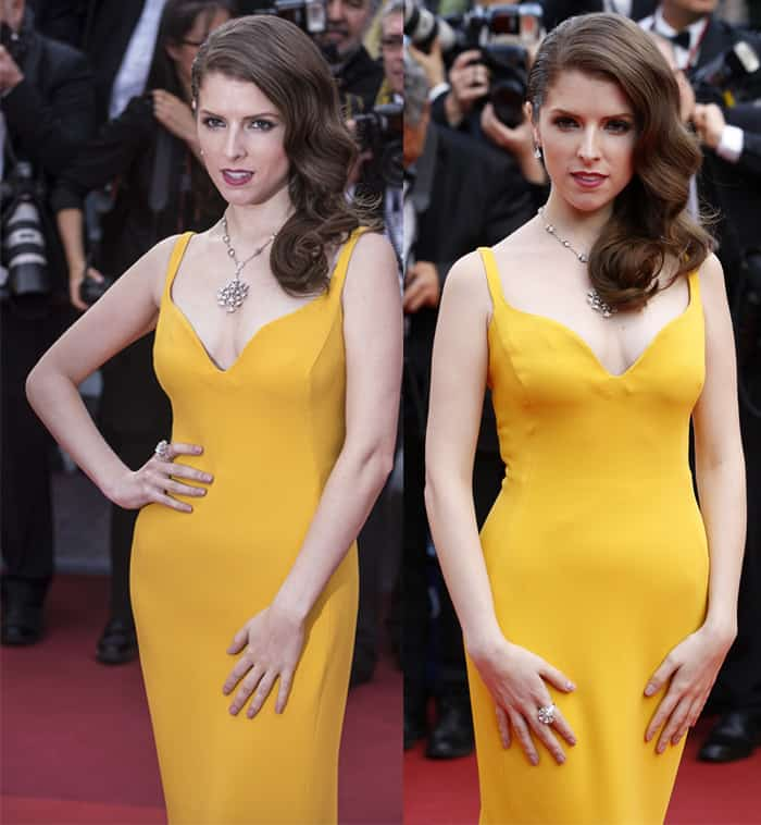 Anna Kendrick Stella McCartney Canary Yellow Gown3