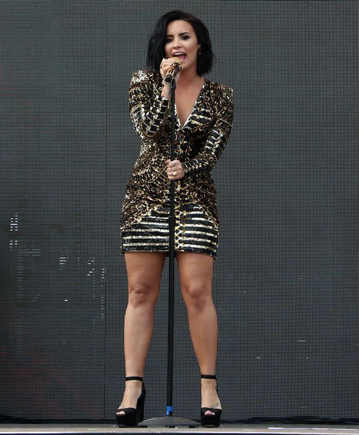 Demi Lovato performing at the 102.7 KIIS FM's Wango Tango 2016 held at the StubHub Center in Los Angeles on May 14, 2016
