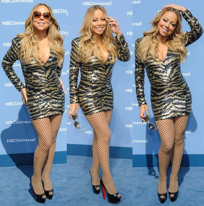 Mariah Carey at the 2016 NBC Universal Upfront Presentation held at Radio City Music Hall in New York on May 16, 2016
