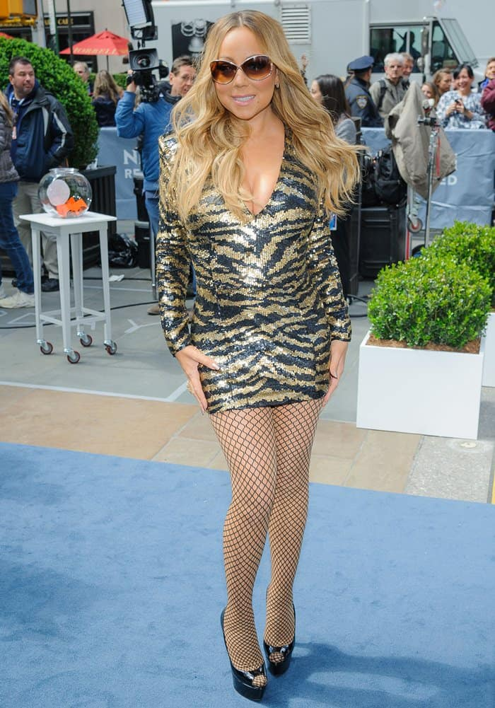 Mariah Carey's legs seem to be just as gorgeous as they were ten years ago