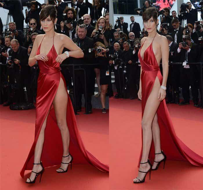 Bella Hadid Suffers Wardrobe Malfunction In Alexandre Vauthier