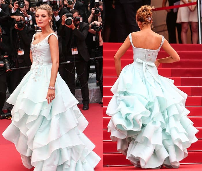 """Blake Lively at the red carpet screening of """"Slack Bay"""" during the 69th Cannes Film Festival in France on May 13, 2016"""