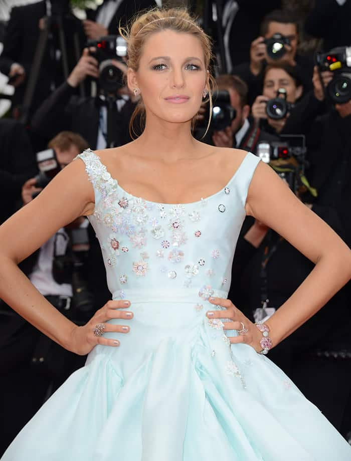 """Blake Lively looked like a real-life Cinderella at the red carpet screening of """"Slack Bay"""" during the 69th Cannes Film Festival in France on May 13, 2016"""