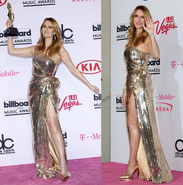 Celine Dion at the 2016 Billboard Music Awards at T-Mobile Arena in Las Vegas on May 23, 2016
