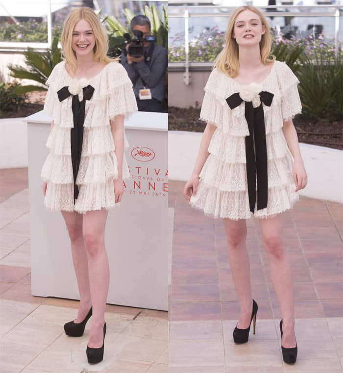 Elle Fanning in Chanel Dress Cannes1