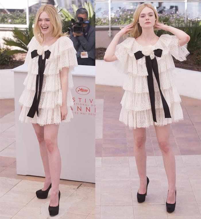 Elle Fanning in Chanel Dress Cannes3