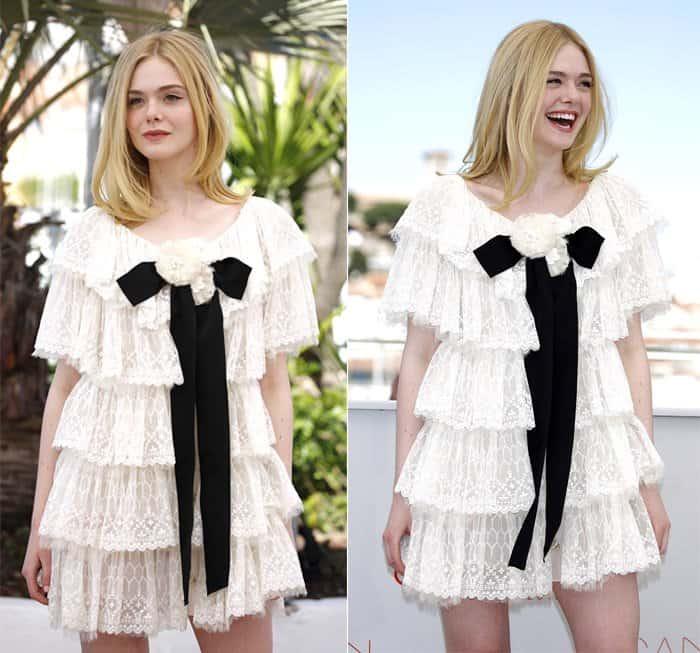 Elle Fanning in Chanel Dress Cannes4