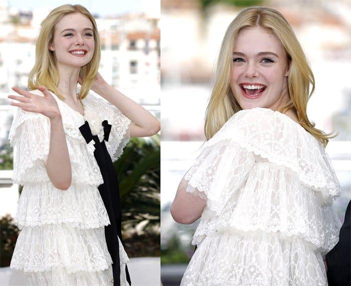 Elle Fanning in Chanel Dress Cannes5