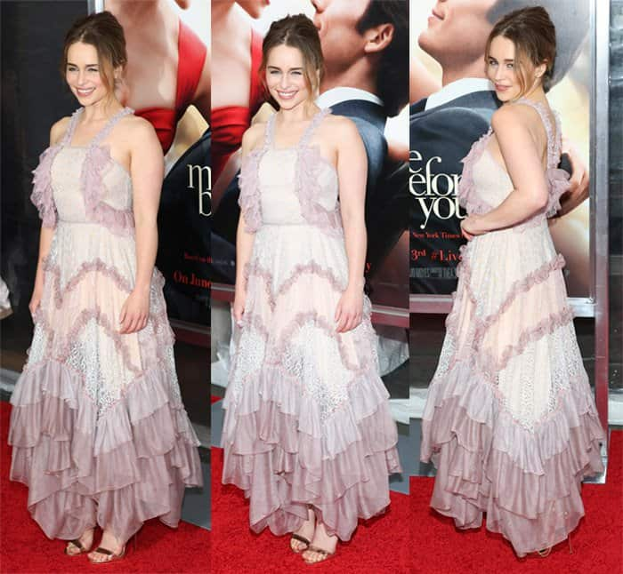 Emilia Clarke in Chloe Dress2
