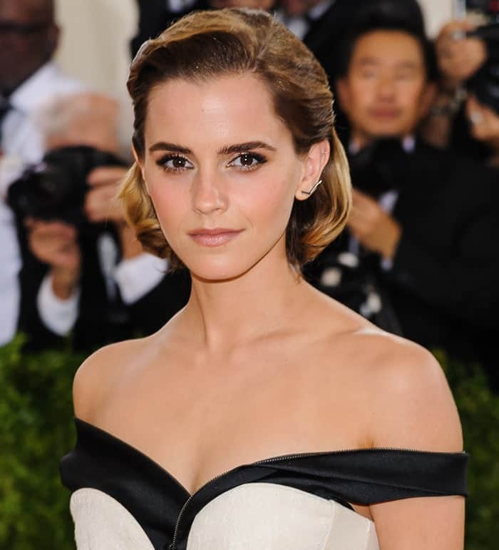 Emma Watson styled the environmentally friendly gown with Paige Novick jewelry