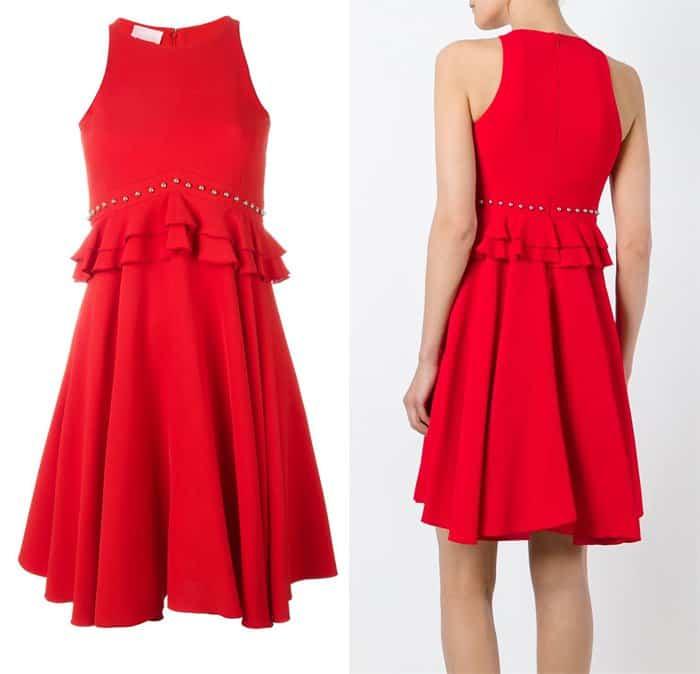 Giamba Ruffled Waist Dress