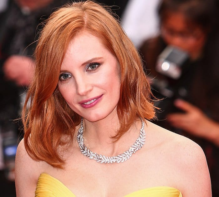 """Jessica Chastain attends the opening Ceremony with """"Café Society"""""""