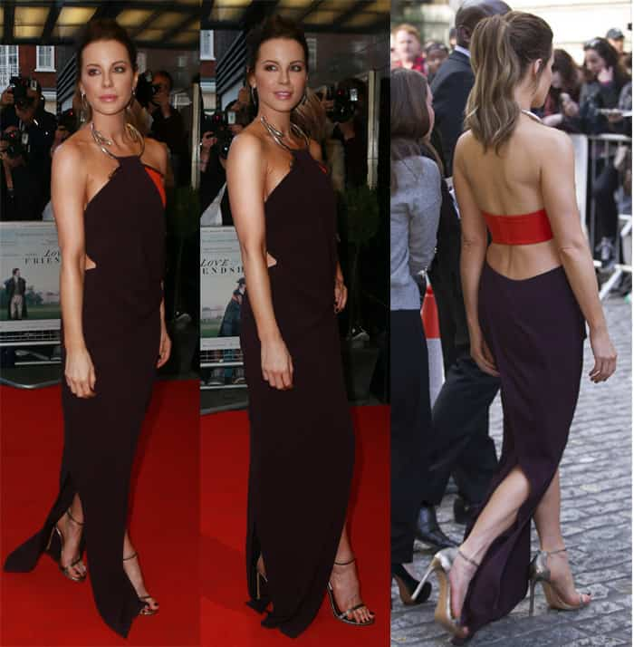 Kate Beckinsale attends the UK premiere 'Love And Friendship' at The Curzon Mayfair on May 24, 2016 in London, England