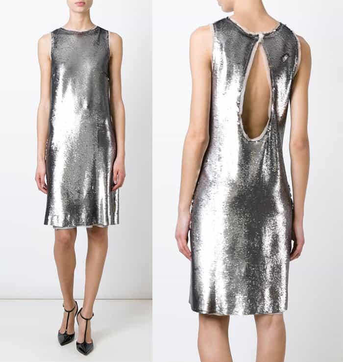 Maison Margiela Sequin Embellished Shift Dress