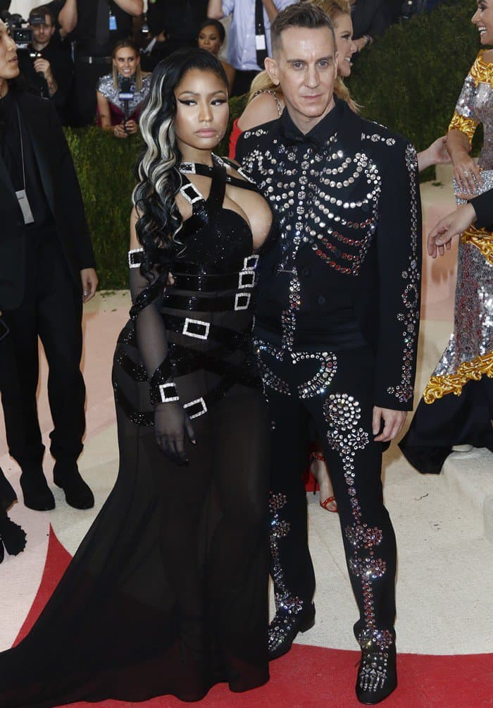 Jeremy Scott and Nicki Minaj at the 2016 Metropolitan Museum of Art Costume Institute Gala – Manus x Machina: Fashion in the Age of Technology