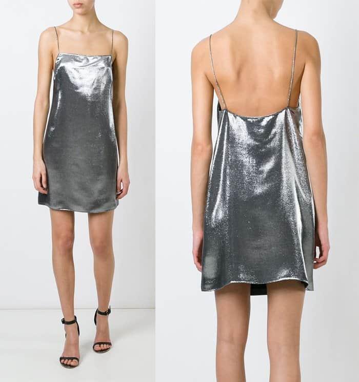 Saint Laurent Metallic Cami Dress