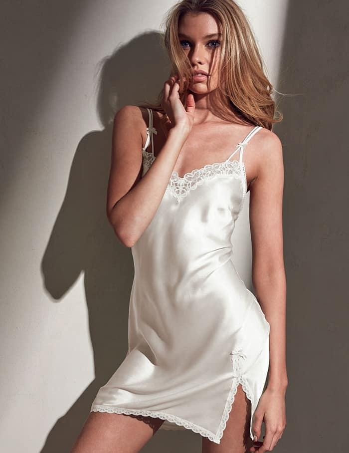 Victoria's Secret Lace-Trim Slip White