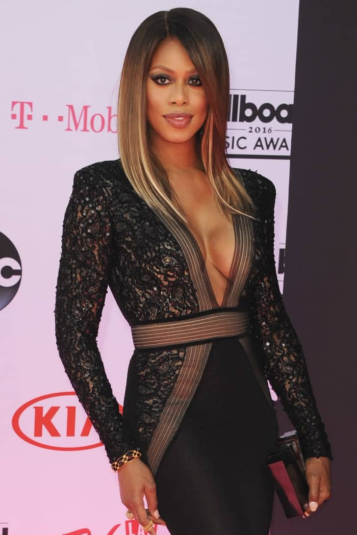 Laverne Cox at the 2016 Billboard Music Awards held at the T-Mobile Arena in Las Vegas on May 22, 2016