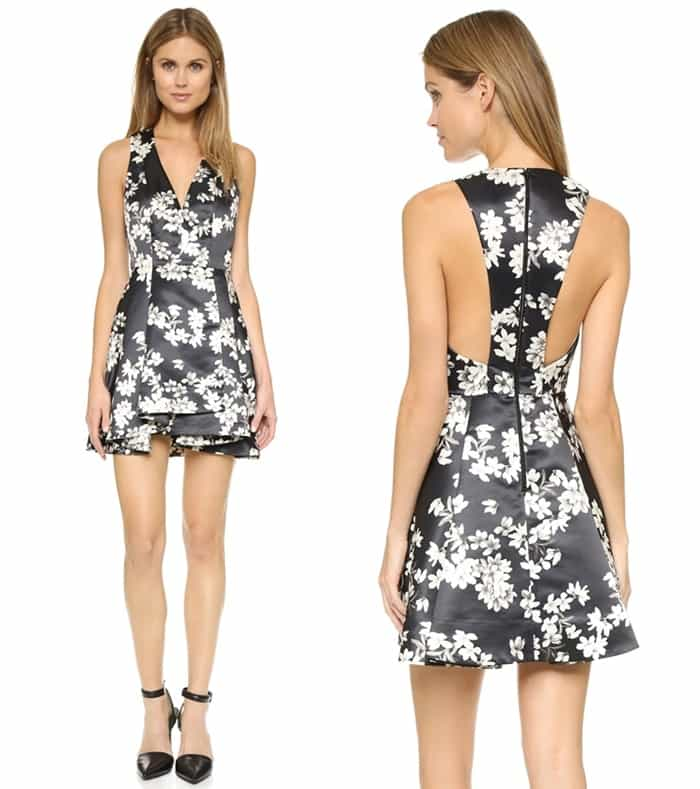 Alice + olivia Tanner Flower Dress3