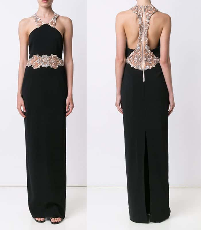 Badgley Mischka Beaded Waist Gown