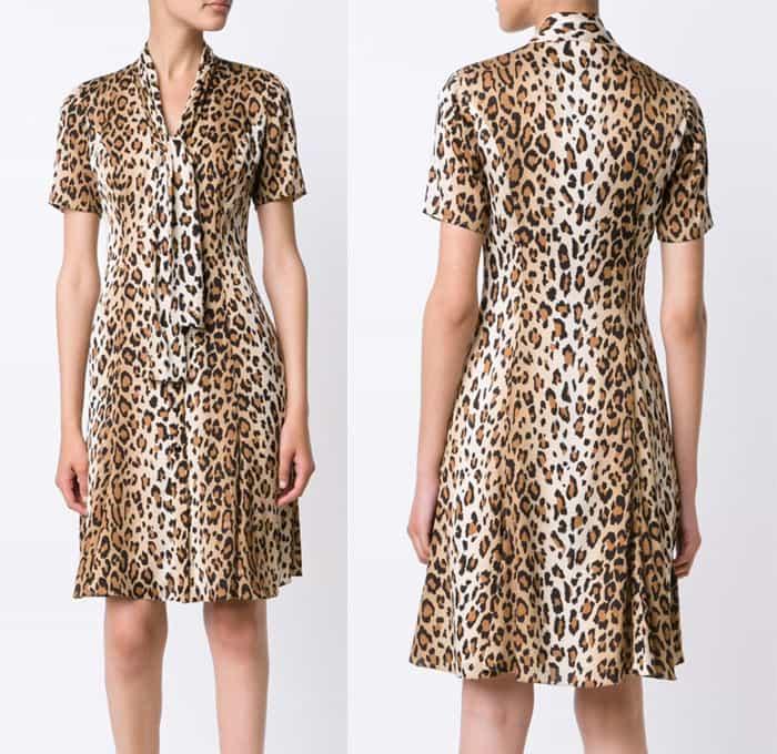Carolina Herrera Leopard Print T Shirt Dress