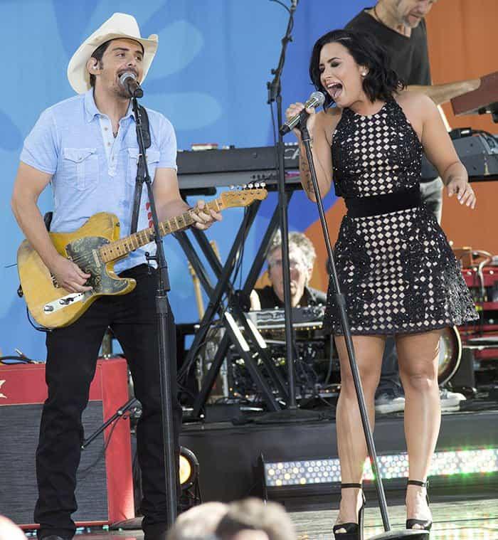 Brad Paisley and Demi Lovato on GMA