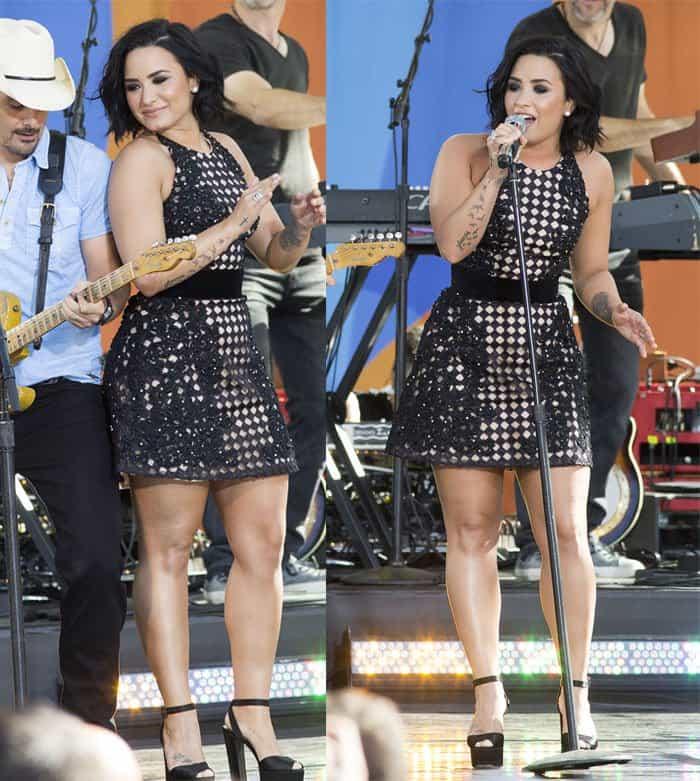 Demi Lovato in Jovani dress3