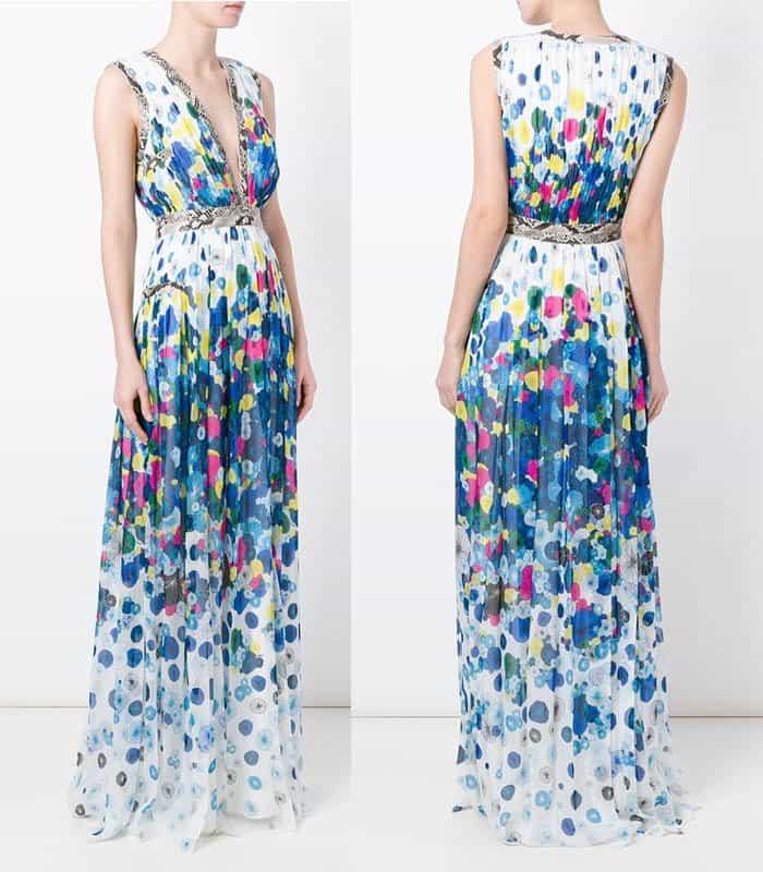 Diane von Furstenberg Patchwork Detail Dress