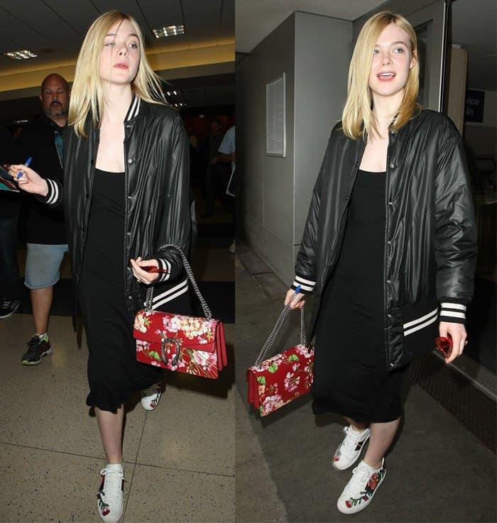 Elle Fanning Airport Fashion2
