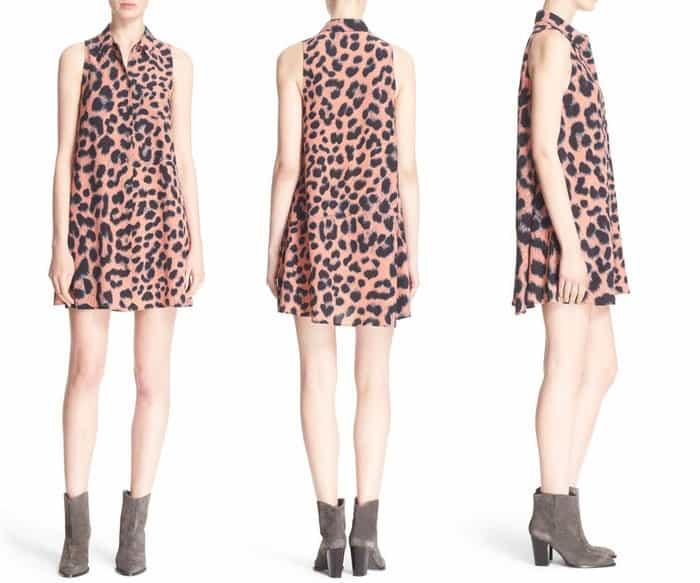 Equipment Mina Leopard Print Silk Shirtdress