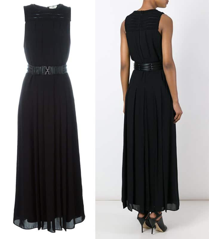 Fendi Long Belted Dress