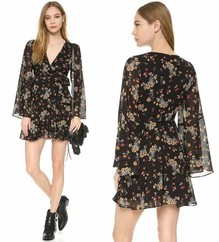 Free People Cheek Chiffon Lilou Printed Dress3