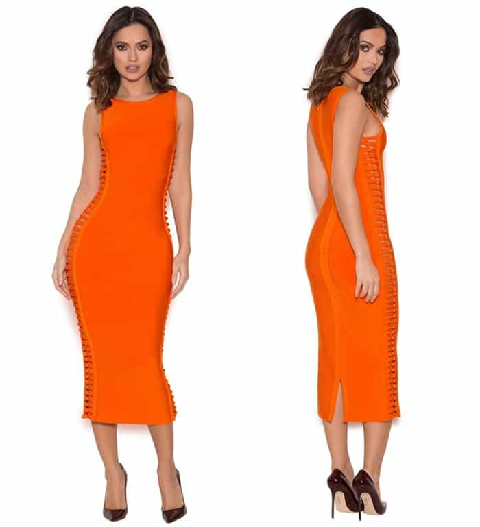 "House of CB ""Martinique"" Burnt Orange Bandage Dress"