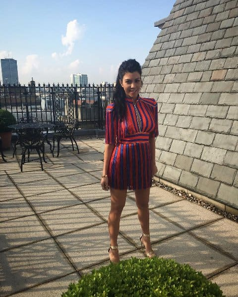 Kourtney Kardashian Striped Dress
