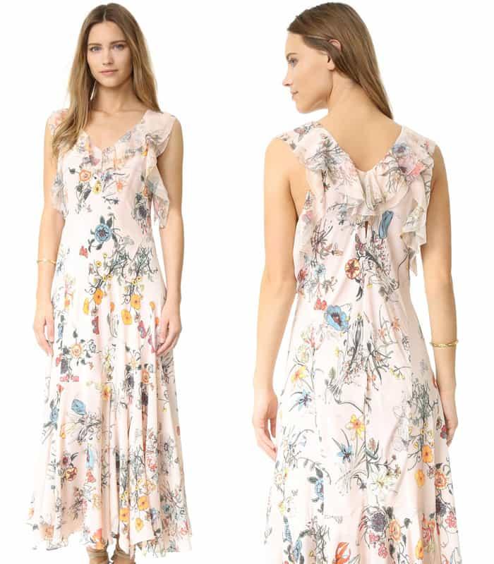 Rebecca Taylor Sleeveless Meadow Ruffle Dress