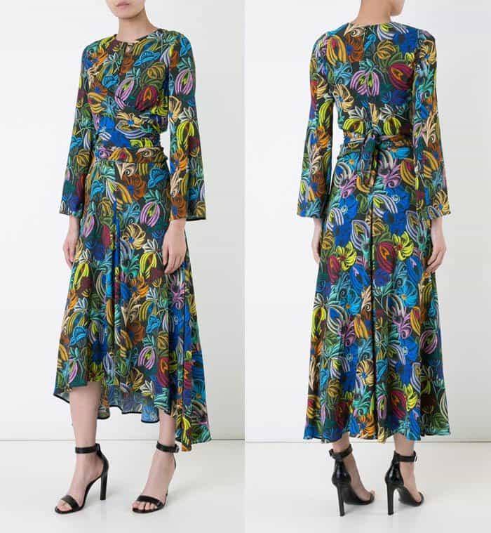 Scanlan Theodore Pastel Floral Print Dress