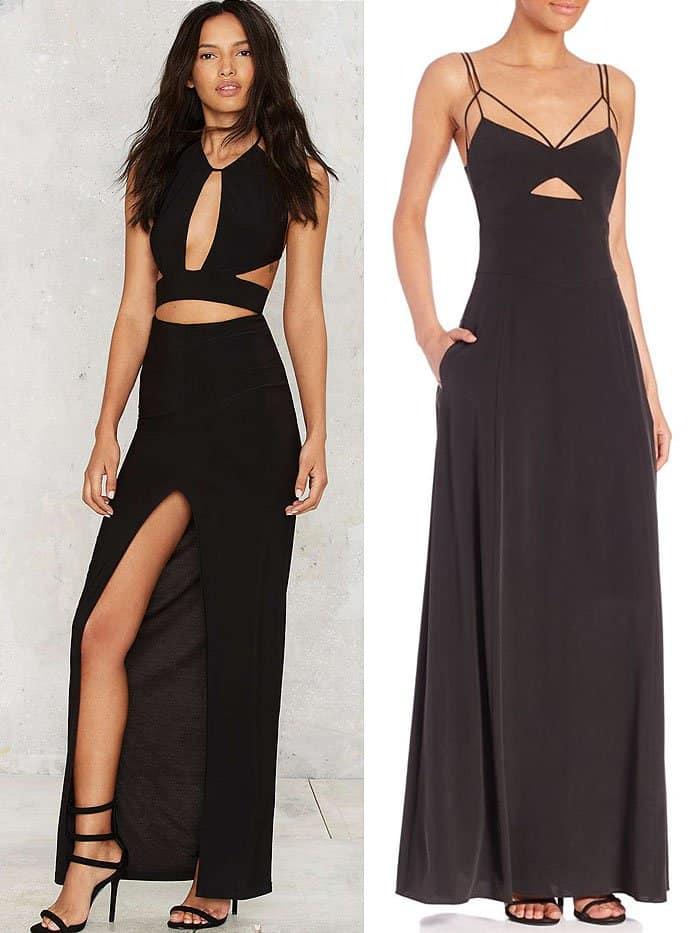 black cutout waist dresses 1