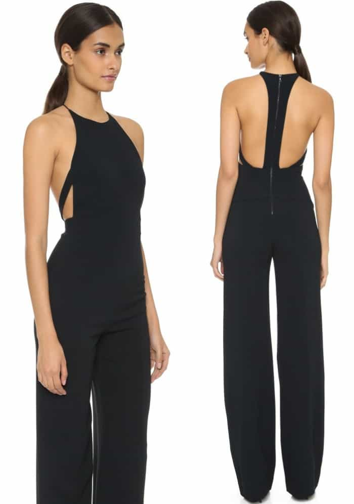 narciso rodriguez harness back jumpsuit 5