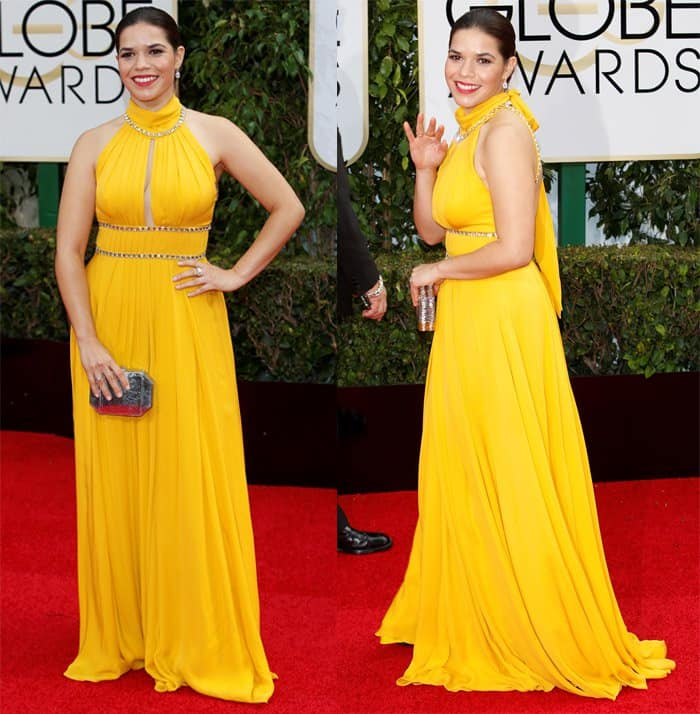 America Ferrera at the 73rd Annual Golden Globe Awards in Los Angeles on January 10, 2016